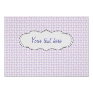 Houndstooth pattern - lilac purple poster