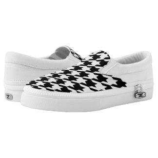 Houndstooth pattern Slip-On sneakers
