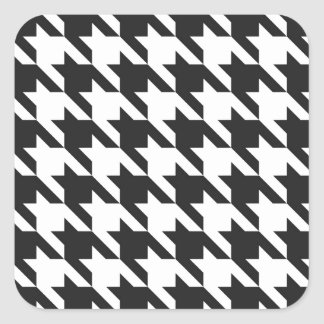Houndstooth Pattern Square Sticker
