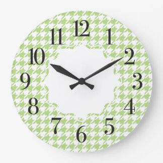 Houndstooth Patterned Large Wall Clock