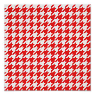 houndstooth red (I) Poster
