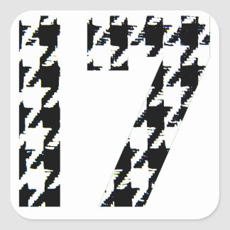 Houndstooth Seventeen Square Sticker
