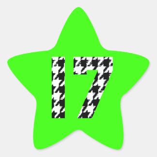 Houndstooth Seventeen Star Sticker