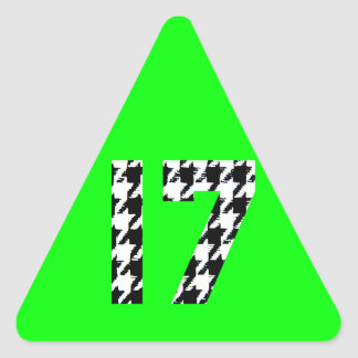 Houndstooth Seventeen Triangle Sticker