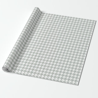 Houndstooth Silver Gray Wrapping Paper