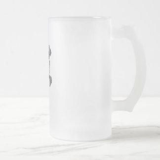 Houndstooth skull frosted glass beer mug