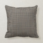 Houndstooth Tan and Black Throw Pillow