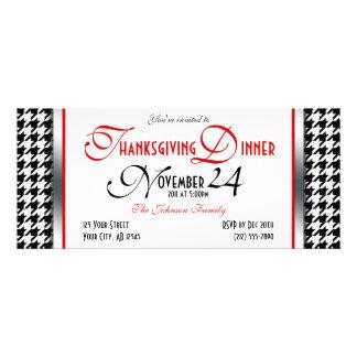 Houndstooth Thanksgiving Dinner Invitations
