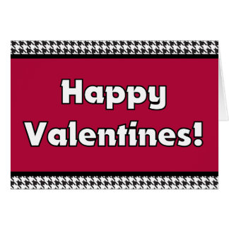 Houndstooth Valentines Card