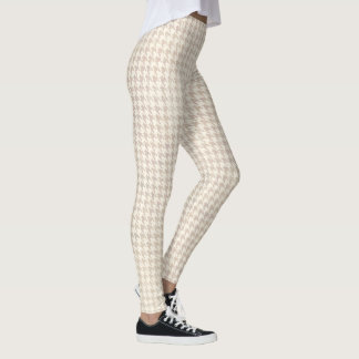 Houndstooth vanilla Pattern Leggings