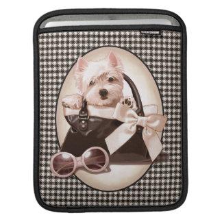 Houndstooth Westie puppy iPad Sleeve