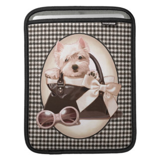 Houndstooth Westie puppy iPad Sleeves