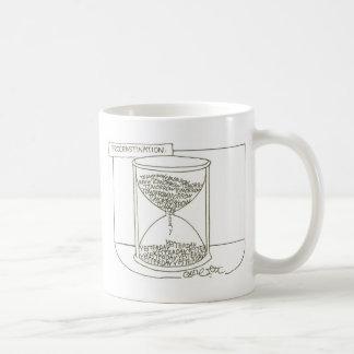 Hour glass: Procrastination, Tomorrow- Yesterday Coffee Mug
