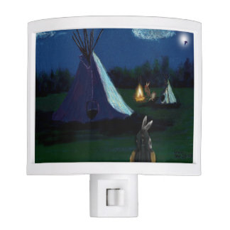HOUR OF THE ANCESTORS - NATIVE AMERICAN ART NIGHT LIGHTS