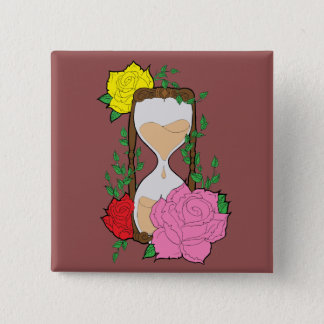 Hourglass 2 Inch Square Button