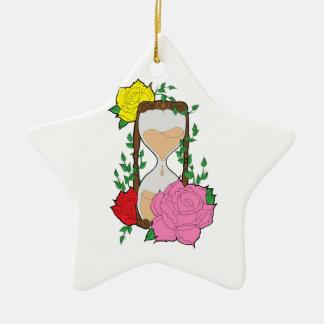 Hourglass Ceramic Ornament