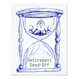 Hourglass Empty Retirement Send-Off Invitation ann