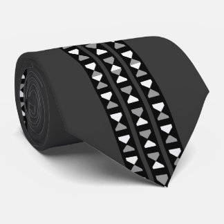 Hourglass Fashion Tie for Men-Black/White/Gray