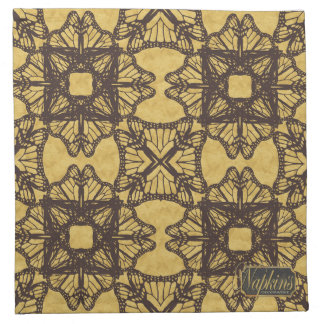Hourglass Gold Decorative Cloth Napkin