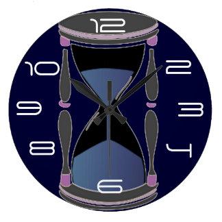 Hourglass Large Clock