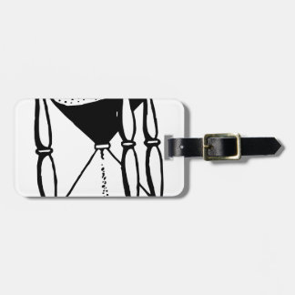 Hourglass Luggage Tag
