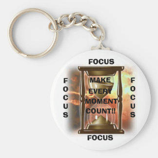 Hourglass, MAKE, EVERY, MOMENT, COUNT!!, FOCUS,... Keychain