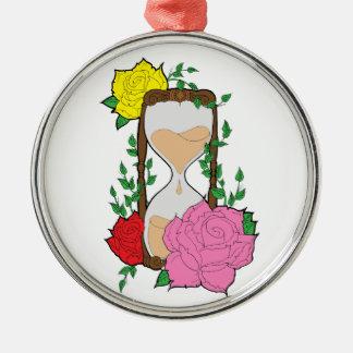 Hourglass Metal Ornament