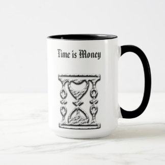 Hourglass on Customized Coffee Mugs No Minimum
