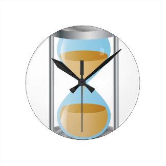 Hourglass Round Clock