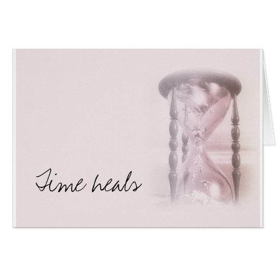 hourglass, Time heals Card
