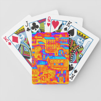 house  1 bicycle playing cards