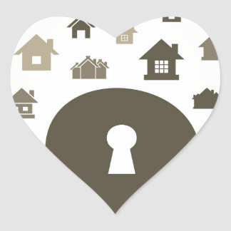 House a head heart sticker