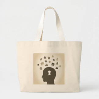 House a head large tote bag