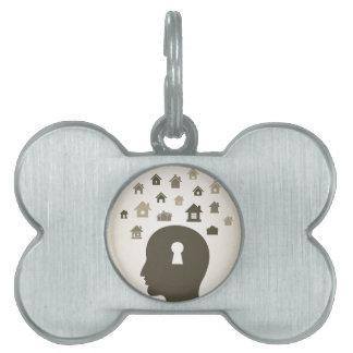 House a head pet ID tag
