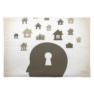 House a head place mats