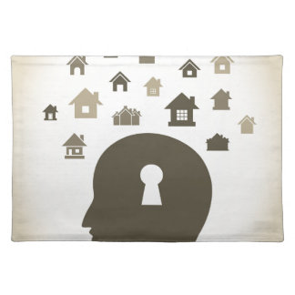 House a head placemat