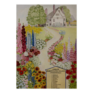 House and Garden Child's Seeds Poster