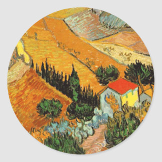 House and Ploughman Stickers