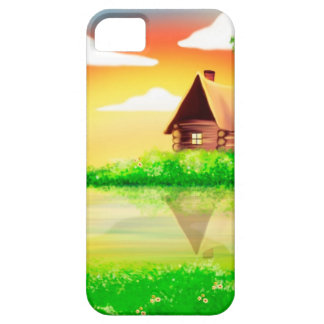 House and river painting iPhone 5 cover