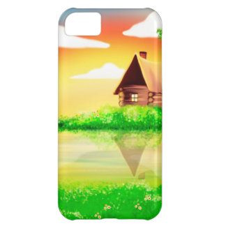 House and river painting case for iPhone 5C