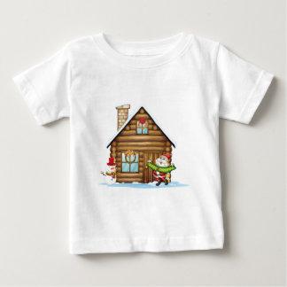 house and santa claus tee shirt