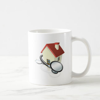 House and stethoscope concept coffee mug