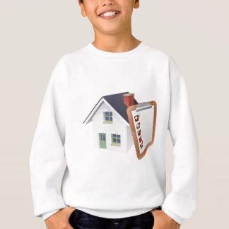 House and Survey Clipboard Concept Sweatshirt