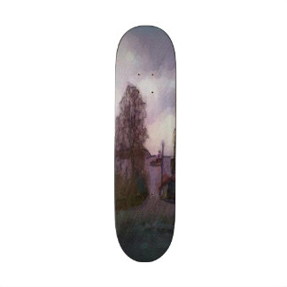House and the sea skate board