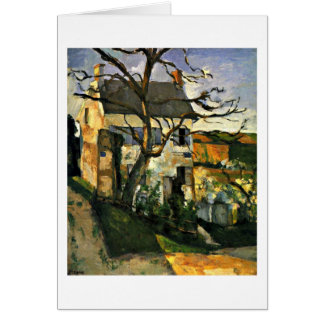 House And Tree By Paul Cezanne Card