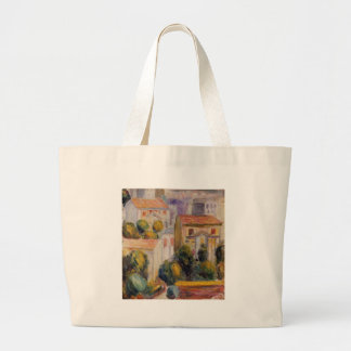 House at Cagnes by Pierre-Auguste Renoir Jumbo Tote Bag