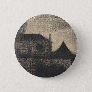 House at Dusk (La Cité) 2 Inch Round Button