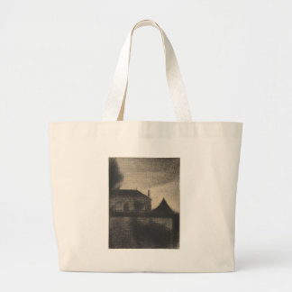 House at Dusk (La Cité) Large Tote Bag