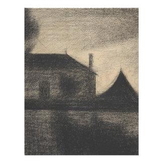 House at Dusk (La Cité) Letterhead