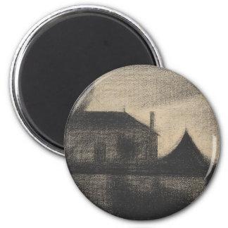 House at Dusk (La Cité) Magnet